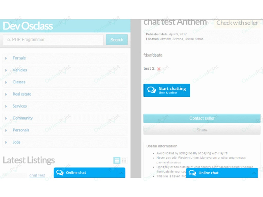 Messaging and Communication - Online Chat Plugin